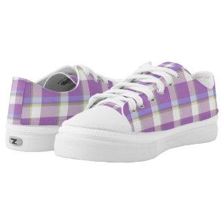 Lavender Tartan Design by Julie Everhart Printed Shoes