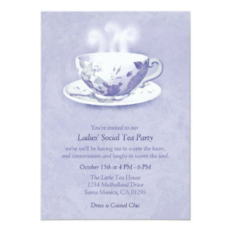 Lavender Tea Party Invitation