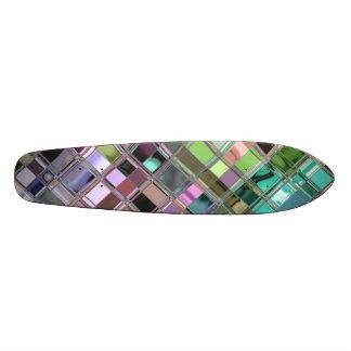 Lavender Teal Mosaic Pattern Skate Decks