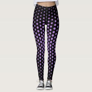 Lavender Techno Dot Pattern Leggings