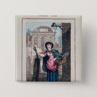 Lavender, Temple Bar, from 'Cries of London' 15 Cm Square Badge