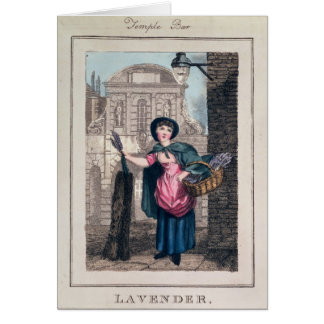 Lavender, Temple Bar, from 'Cries of London' Greeting Card
