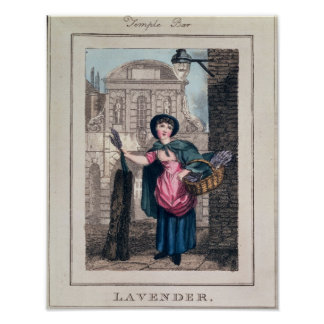 Lavender, Temple Bar, from 'Cries of London' Poster