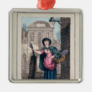 Lavender, Temple Bar, from 'Cries of London' Silver-Colored Square Decoration