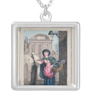 Lavender, Temple Bar, from 'Cries of London' Square Pendant Necklace