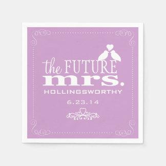 Lavender The Future Mrs Bridal Shower Paper Napkin
