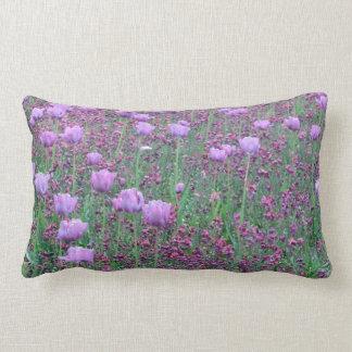 Lavender Tulip Throw Pillow
