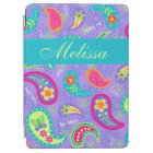 Lavender Turquoise Blue Modern Paisley Pattern iPad Air Cover