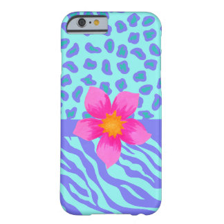 Lavender Turquoise Zebra Leopard Skin Pink Flower Barely There iPhone 6 Case
