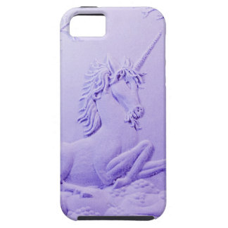 Lavender Unicorn in Forest Glade by Sharles iPhone 5 Case