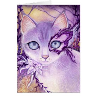 Lavender Venice Night  - blank card