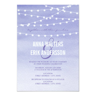 Lavender Watercolor String Lights Card
