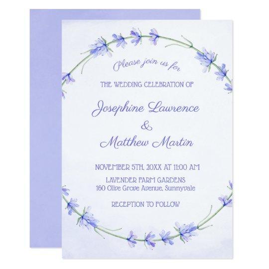 Lavender Watercolor Wedding Invitations