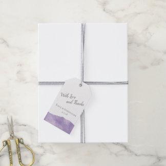 Lavender Watercolor Wedding Tags