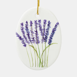 Lavender watercolour painting, purple flowers christmas ornament