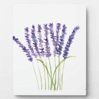 Lavender watercolour painting, purple flowers plaque