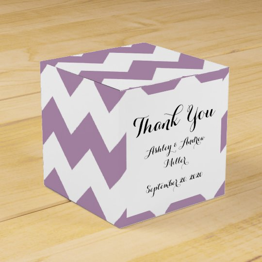 Lavender White Chevron Pattern Favour Box