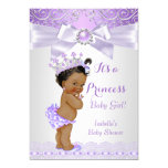 Lavender White Lilac Princess Baby Shower Ethnic 13 Cm X 18 Cm Invitation Card