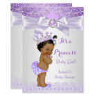 Lavender White Lilac Princess Baby Shower Ethnic Card