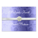 Lavender with Pearls Sweet Sixteen Invitation