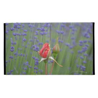 Lavender with Roses iPad Folio Cover
