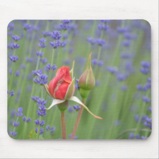 Lavender with Roses Mousepad