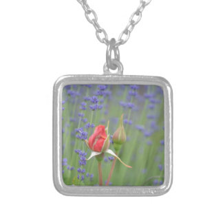 Lavender with Roses Necklaces