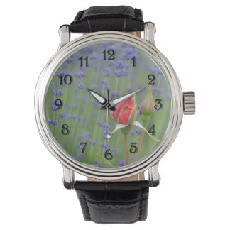 Lavender with Roses Watch