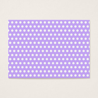 Lavender with White Polka Dots Business Card