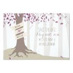 Lavender Woodland Wedding Save The Date 9 Cm X 13 Cm Invitation Card
