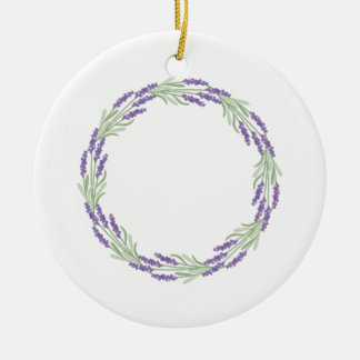 Lavender Wreath Christmas Ornament
