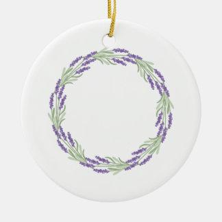 Lavender Wreath Round Ceramic Decoration