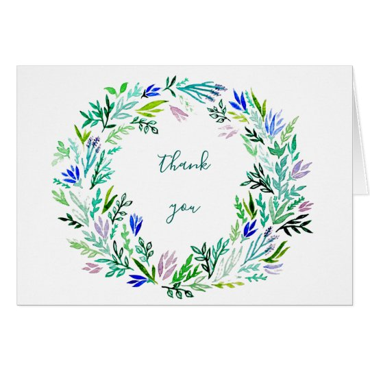 Lavender Wreath Thank-You Notes