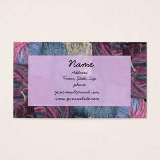 Lavender yarn business cards