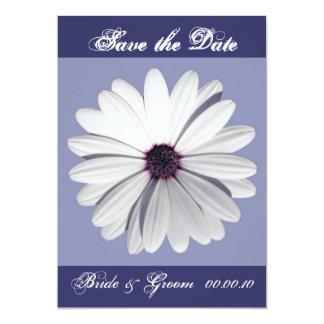 LavenderDaisy, Save the Date, Bride & Groom  00... 13 Cm X 18 Cm Invitation Card