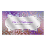 Lavish Mocha Lavender Diamond Damask Swirl Business Card Templates