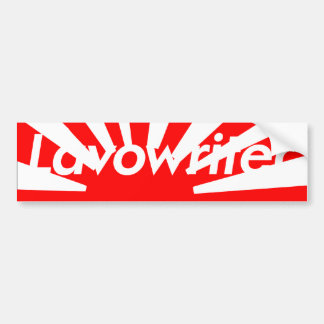 LAVOWRITER JAPAN BOX LOGO STICKER BUMPER STICKER