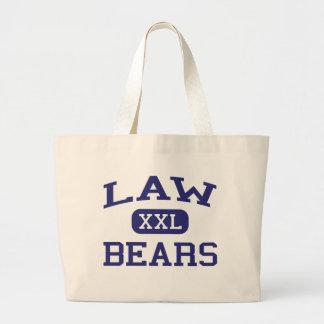Law Bears Law Middle School Detroit Michigan Jumbo Tote Bag