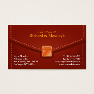 Law Briefcase Business Card