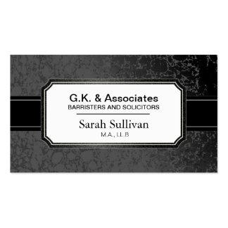 Law Business Card - Black Stylish Lawyer Attorney