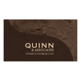 Law Business Card - Professional Brown Plaster