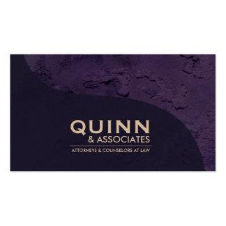 Law Business Card - Professional Purple Plaster