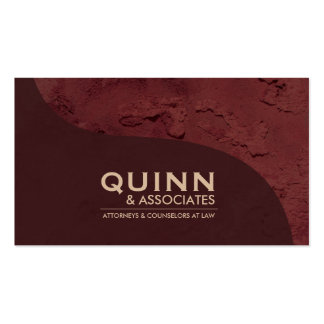 Law Business Card - Professional Red Plaster