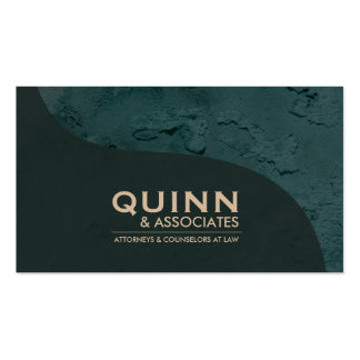 Law Business Card - Professional Teal Plaster