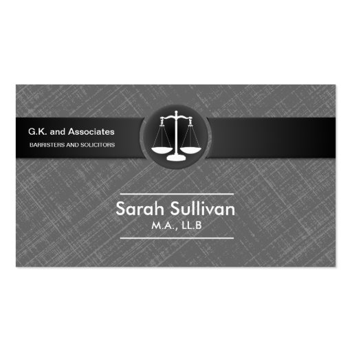Create your own notary business cards law business card stylish grey black scale justice reheart Gallery