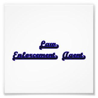 Law Enforcement Agent Classic Job Design Photo Art