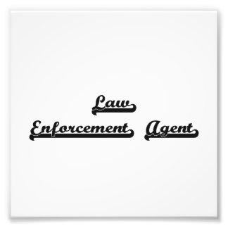 Law Enforcement Agent Classic Job Design Photo Print