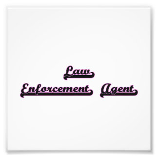 Law Enforcement Agent Classic Job Design Photograph