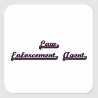 Law Enforcement Agent Classic Job Design Square Sticker