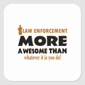 Law Enforcement designs Square Sticker